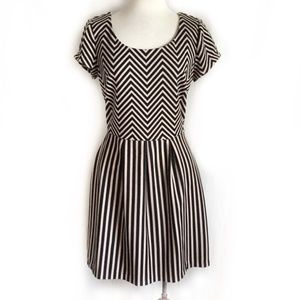 3for$30 Anthro Maison Jules Chevron Dress XS